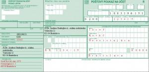 Poštový poukaz na účet