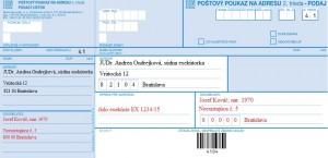 Poštový poukaz na adresu
